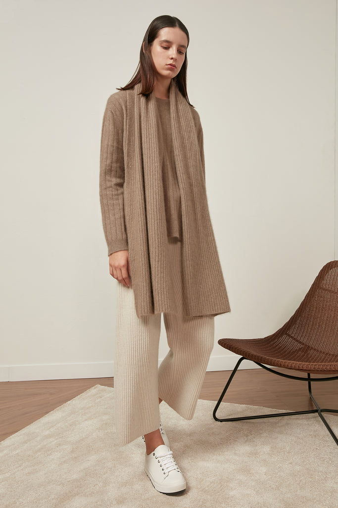 Raccoon and wool-blend ribbed jumper - Zelle Studio