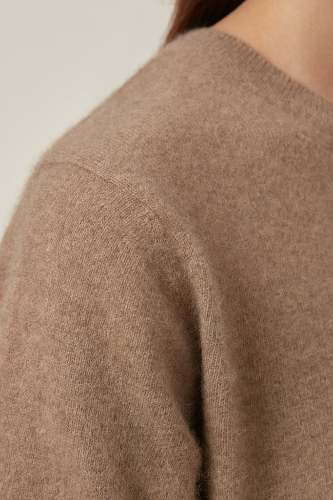 Raccoon fox and wool-blend short-sleeve jumper - Zelle Studio