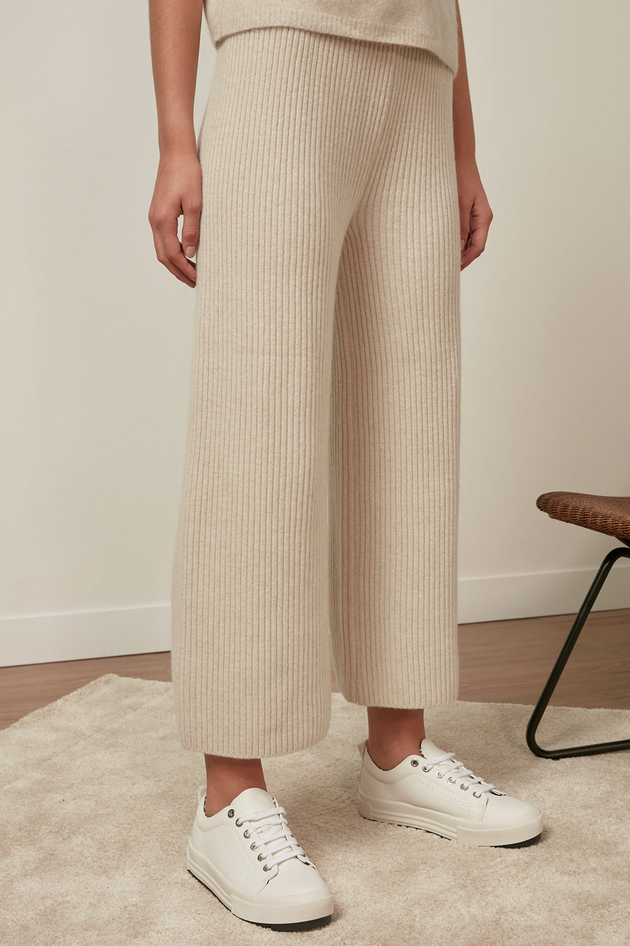 Ribbed wool trousers - Zelle Studio