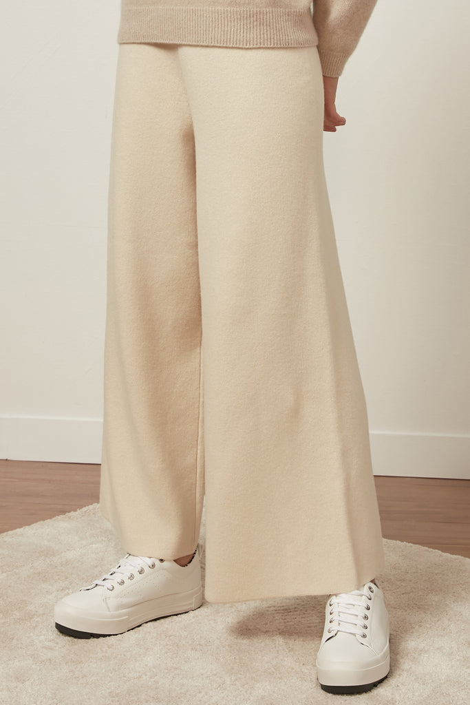 Cashmere and wool-blend trousers - Zelle Studio