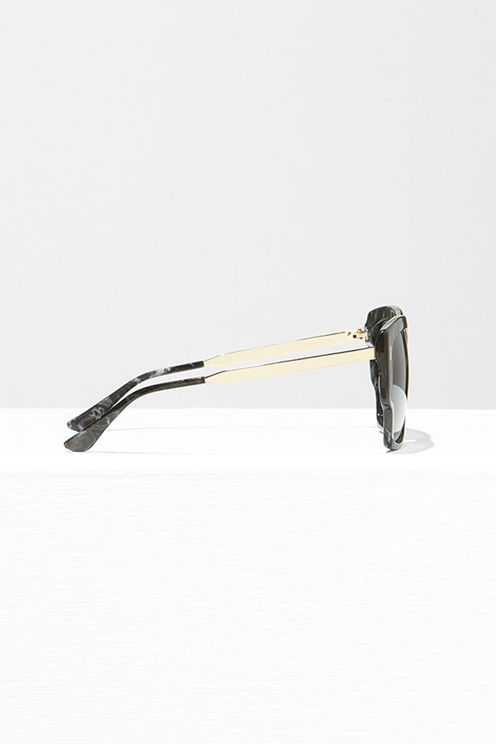 Handmade Acetate Sunglasses With Gold Plated Steel Temples - Zelle Studio