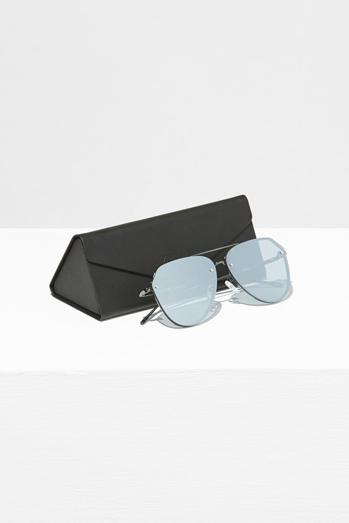 Handmade Aviator Sunglasses With Flat Mirror Lens - Zelle Studio