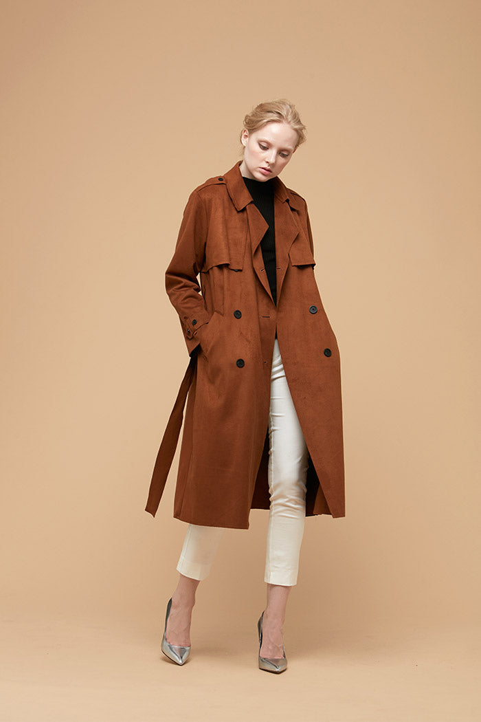 Zelle Studio Florence - Faux Suede Trench