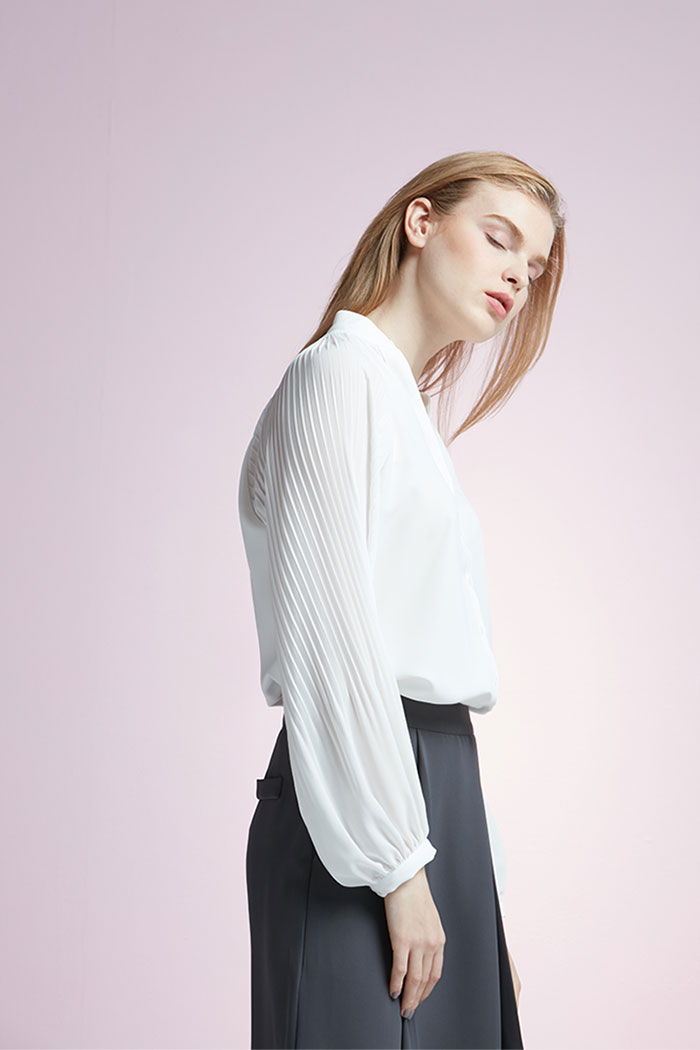 Maisie - Pleated Sleeve Blouse