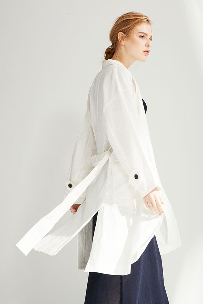 Simone - Unstructured Belted Coat