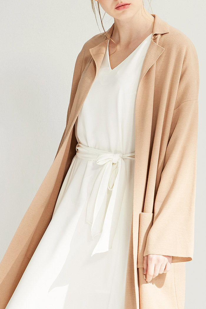 Edie - Long Unstructured Collared Cardigan