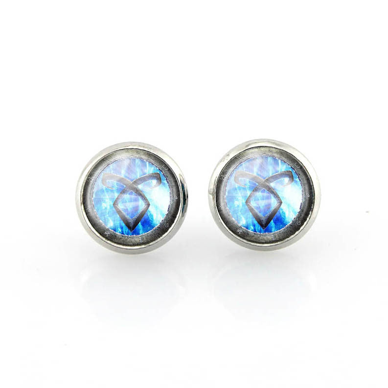 of grande blue rose earrings stud products stainless light images spring product steel for