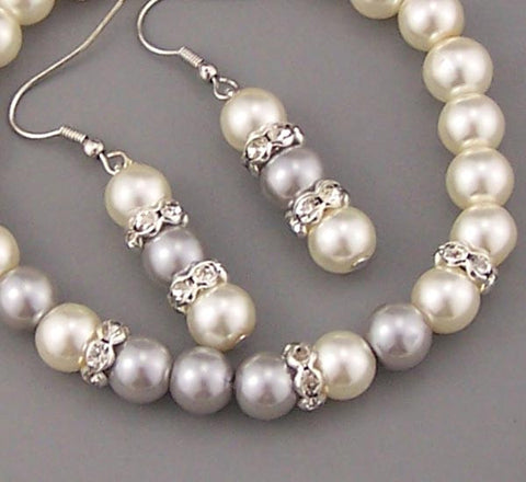 Shiny wedding jewelry bracelet necklace earrings Cream pearls crystal bracelet rhinestone earrings diamond necklace  bridesmaid gift Women jewelry Flower girl,Wholesale or retail
