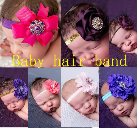 Baby hair band ,New style babies tire children photography hair band Hair flower belt drill hair hoop headdress of the girls Daily jewelry,handmade,Wholesale or retail.