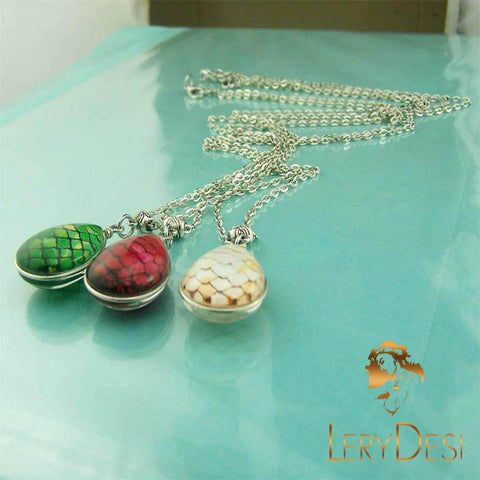 LERYDESI Free shipping,Game of Thrones Dragon Eggs Necklace Game of Thrones Jewelry Dragon Egg Pendant Raindrop Pendant Friendship Gifts,Handmade,Wholesale or retail