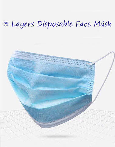 Free shipping,Disposable Masks Breathable Anti Pollution Non Woven Safety 3-Layer Mask Surgical Medical Dental Quality 3-Ply New (50pcs) (Blue),Wholesale or retail