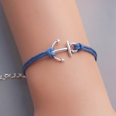 Small Anchor Bracelet,Silver or Bronze anchor jewelry,rope bracelet,Sailor bracelet,Navy jewelry,Tourist gift,friendship gift idea,wedding jewelry,bridesmaids gift,Wholesale or retail