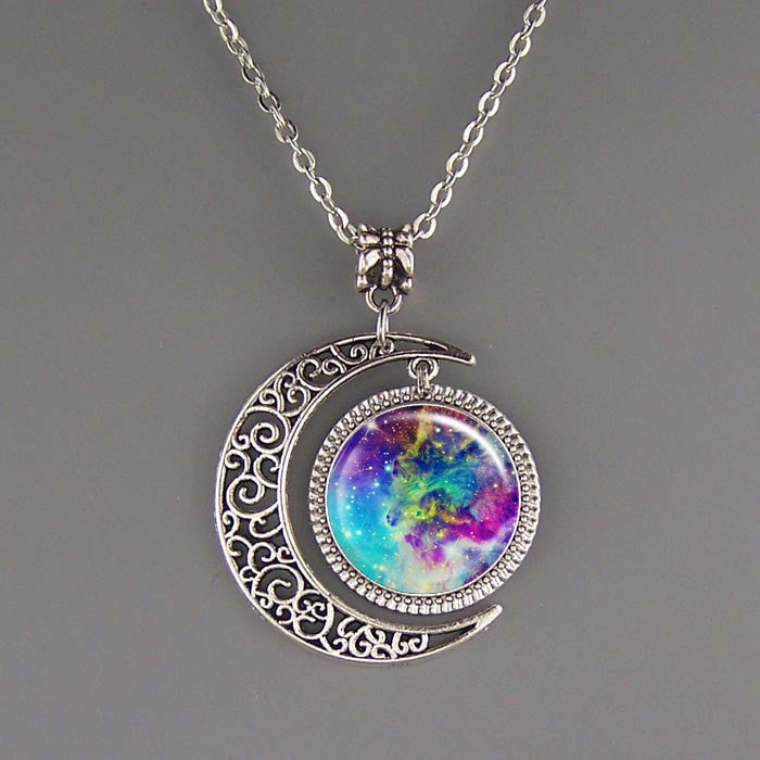 Free shipping,Nebula Necklace,Nebula jewelry,Nebula pendant,Colorful Galaxy Necklace,Space Pendant,Galaxy Jewelry,Universe Pendant,custom picture pendant.