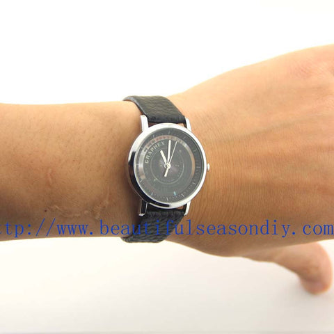 Camera watch Black leather watches Man / Women jewelry Handmade,Friendship gift,Fashion jewelry,Bracelet,Wholesale or retail