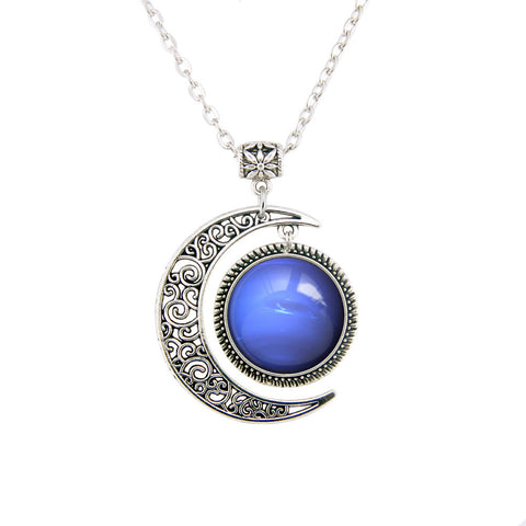Neptune Galaxy Necklace,DHL