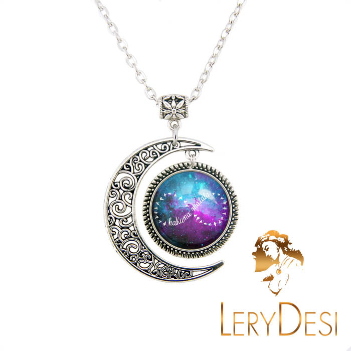 Infinity Necklace Couples Jewelry Moon Pendant Friend