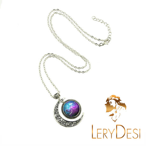 LERYDESI Free shipping,Infinity necklace,Infinity jewelry,Hakuna matata Infinity pendant,Silver Moon charm,Anniversary gift,Unique Friendship Jewelry,gift for best friend,Unisex necklace,Lovers necklace,Couples jewelry,Friendship,Wholesale or retail
