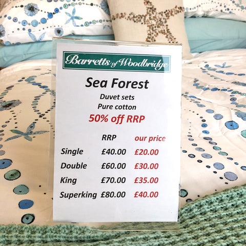 Dare to dream about sea-side holidays - Sea Horse Duvet Set prices