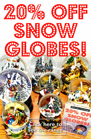 20% off Snow Globes in the Barretts Winter Sale