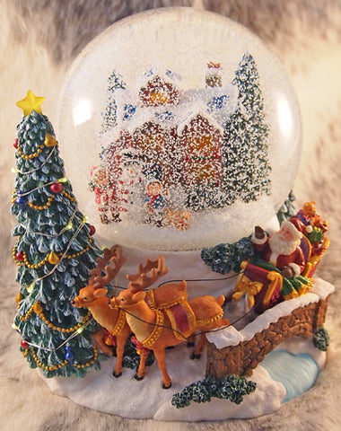 Large Village Scene and Santa's Sleigh