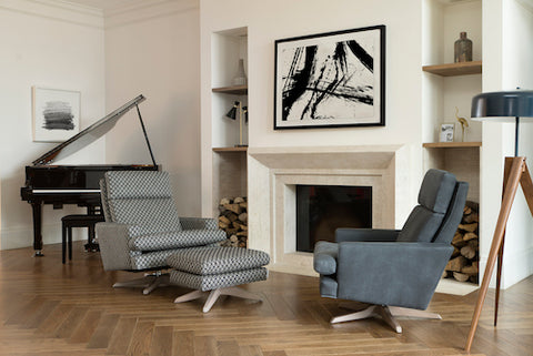Collins & Hayes Bank Swivel Chair