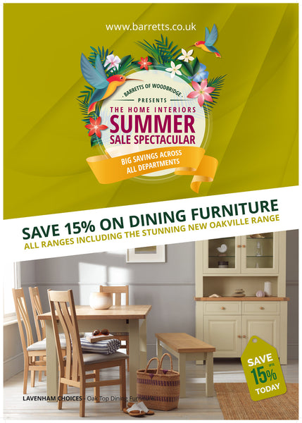 Barretts Summer Sale - Dining Room Furniture