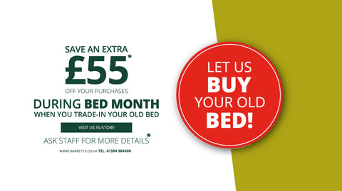 Let Barretts buy your old bed! March only...