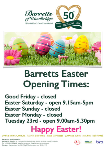 Barretts Easter Opening Times