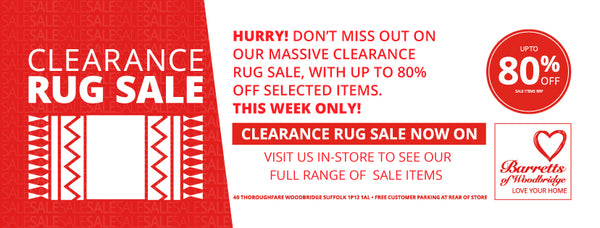 Barretts Rug Clearance Sale - must end this Saturday!