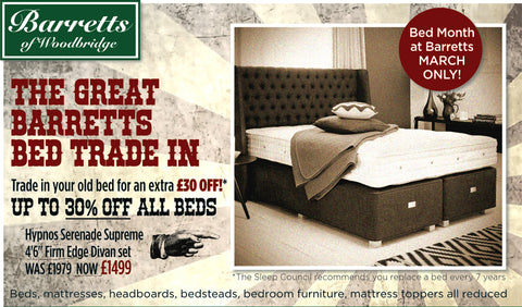 The Barretts great Bed Trade-In