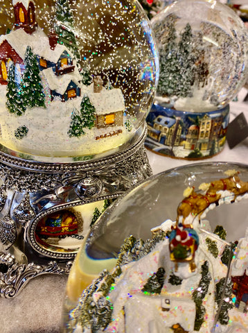 German Musical Snow Globes at Barretts of Woodbridge