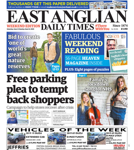 Jill Barretts EADT article on the campaign for free parking in Woodbridge
