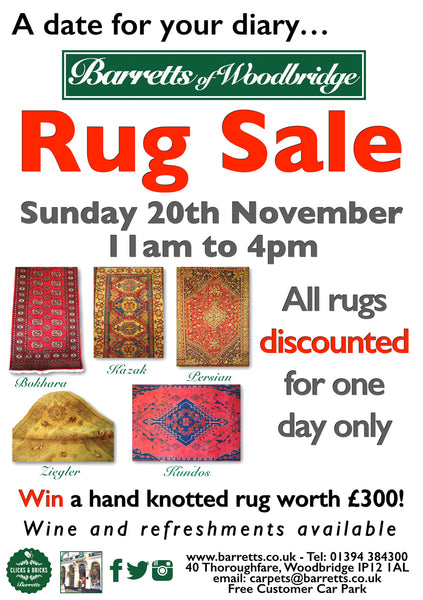 Barretts Rug Sale - Sunday 20th November