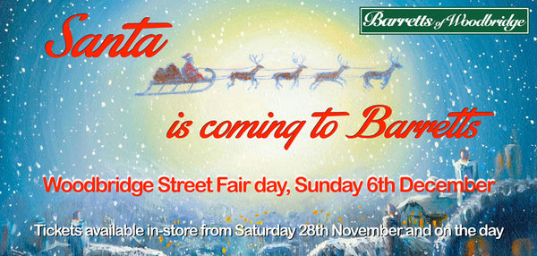 Santa's Grotto at Barretts - Woodbridge Street Fair Day, Sunday 6th December