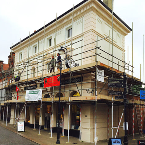 Barretts scaffolding finally coming down!