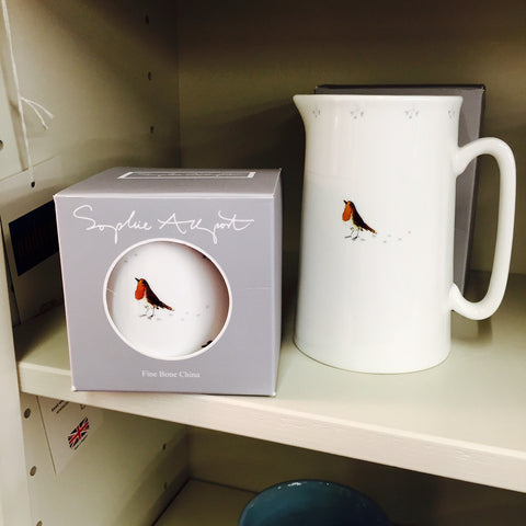 New at Barretts - Sophie Allport 'Robin' mug and jug