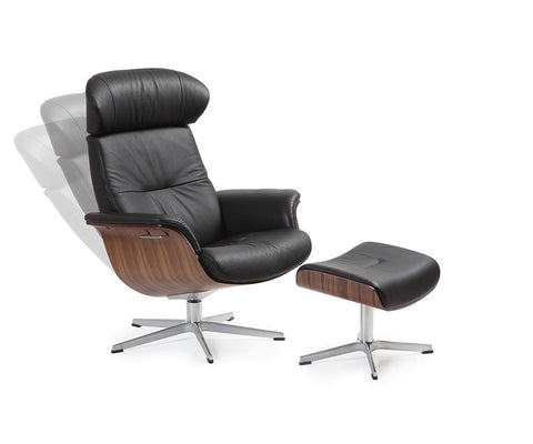 Timeout Leather Swivel Chair