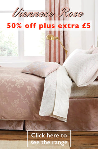 50% plus £5 off Viennese Rose Duvet Cover