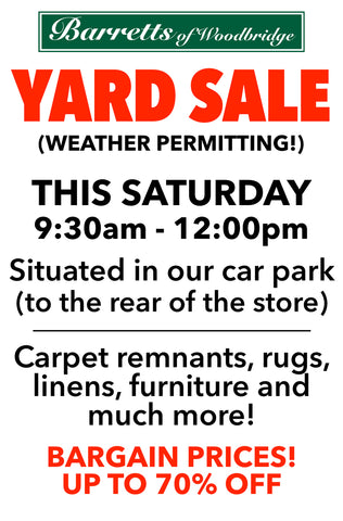 Barretts Yard Sale - this Saturday 26th March, 9.30am to 12.00pm