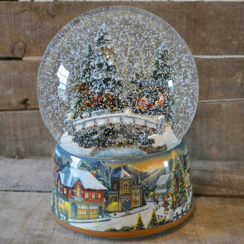 'Winter Sleigh Ride' Christmas Musical Snow Globe