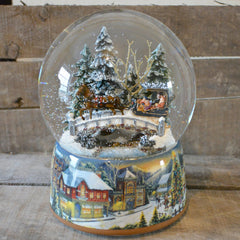 'Winter Sleigh Ride' Christmas Musical Snow Globe (No. 48040)