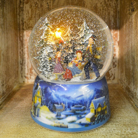 'Sledging' Christmas Musical Snow Globe (No. 56053)