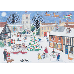Advent Calendar card - 'Christmas in the village'