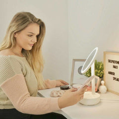 Halo Makeup Mirror with Bluetooth Speaker