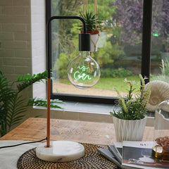 Edison-style bulb for use with Marble Stone Desk Lamp