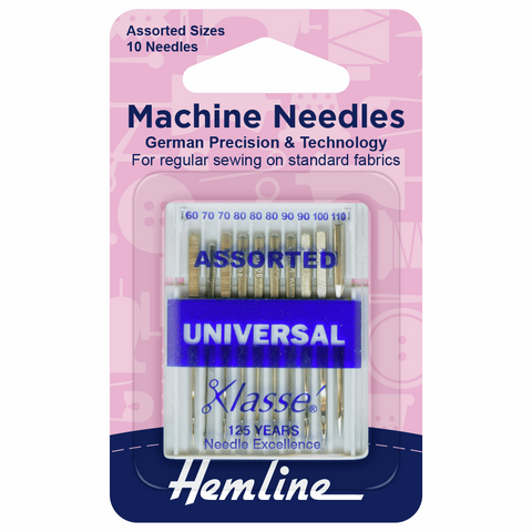Sewing Machine Needles: Universal: Assorted: Pack of 10