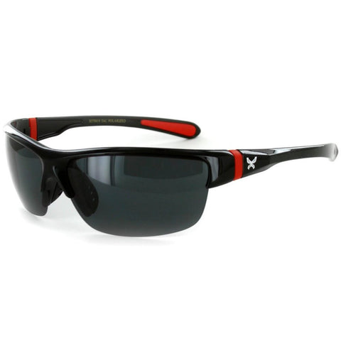 03430af7744a Power Sport X570019 Polarized Wrap Around Sports Sunglasses for Men and  Women (Black & Red