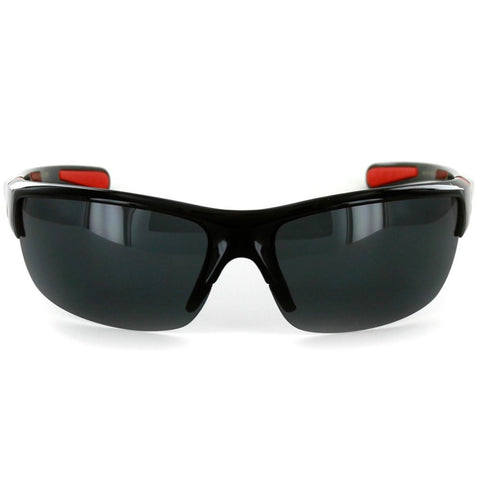 7dfe7aea85ee ... Power Sport X570019 Polarized Wrap Around Sports Sunglasses for Men and  Women (Black & Red ...