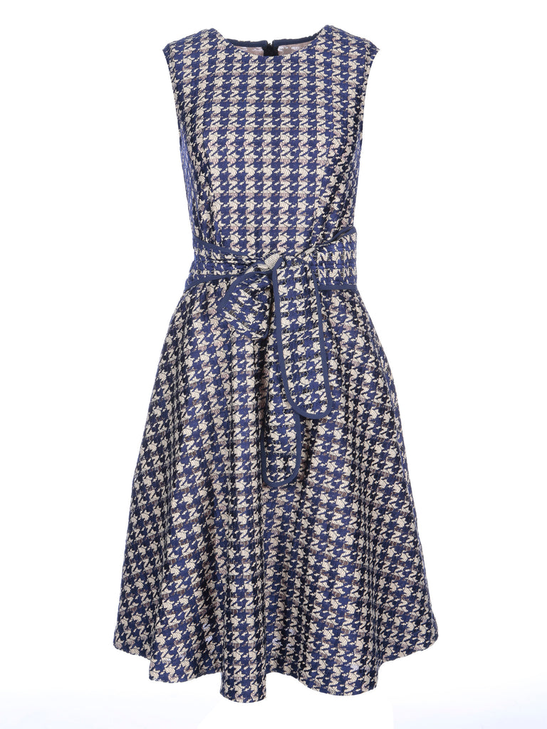 Houndstooth Lace Dress