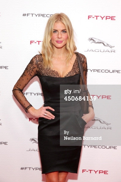 Donna Air - Silk Satin and Lace Corset Dress